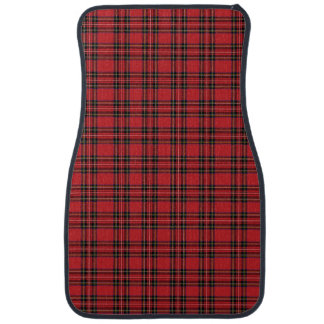 Red Tartan Plaid  Car Mats (Front) (set of 2)