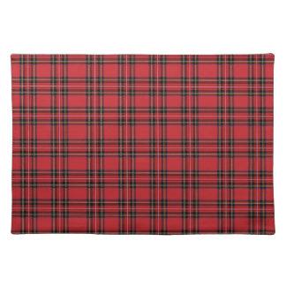 "Red Tartan Plaid Cloth Placemats 20"" x 14"""