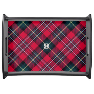Red Tartan with (or without) Initial Serving Tray