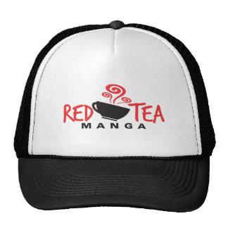 Red Tea Manga Logo Trucker Hats