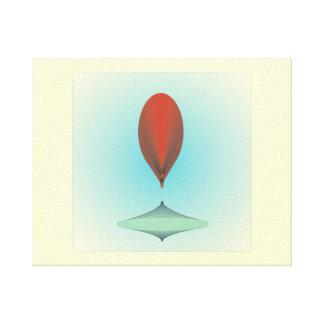 Red Tear Drop> Canvas Print