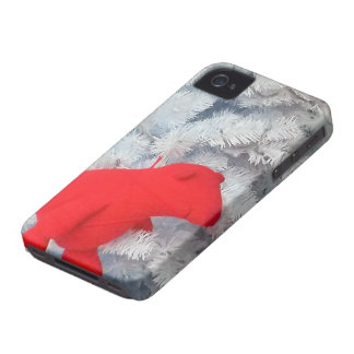 Red Teddy bear in Christmas Tree iPhone 4 Case-Mate Case