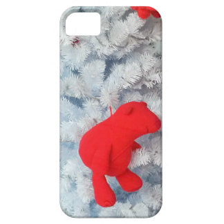 Red Teddy bear in Christmas Tree iPhone 5 Cover