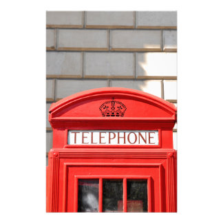 Red telephone boot in London Stationery