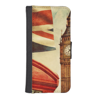 Red telephone booth and Big Ben in London, England iPhone SE/5/5s Wallet Case
