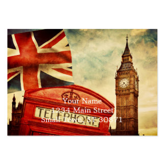 Red telephone booth and Big Ben in London, England Pack Of Chubby Business Cards