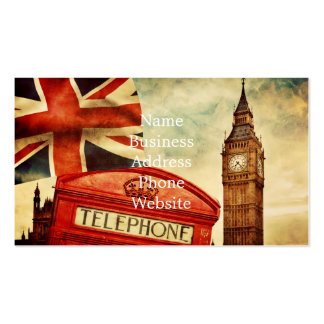Red telephone booth and Big Ben in London, England Pack Of Standard Business Cards