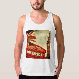 Red telephone booth and Big Ben in London, England Tank Top