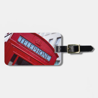red telephone booth luggage tag