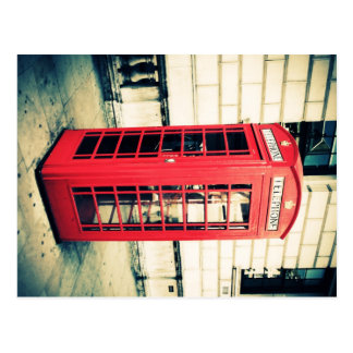 red telephone box postcard