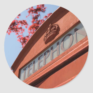 Red telephone box sticker