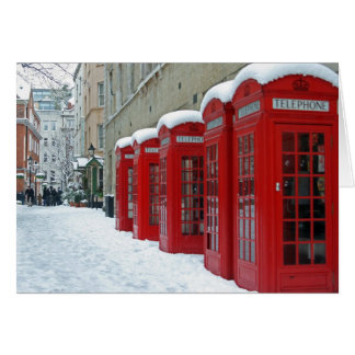 Red Telephone Boxes Card