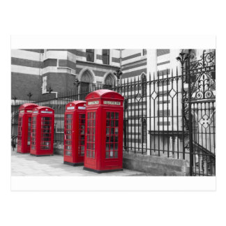 Red Telephone boxes Postcard