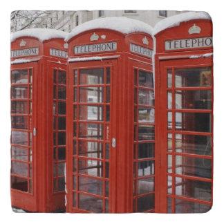 Red telephones near Big Ben Trivet
