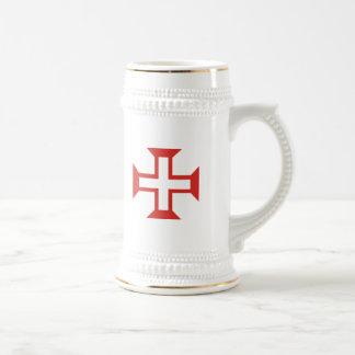 Red Templar Cross Coffee Mugs