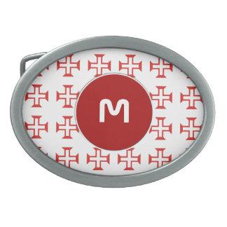 Red Templar Cross pattern Belt Buckles