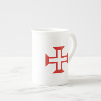 Red Templar Cross Bone China Mug