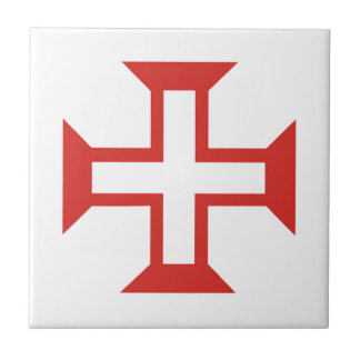 Red Templar Cross Tile