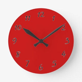 Red Template Round Clock