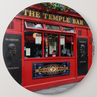 Red Temple Bar pub in Dublin button