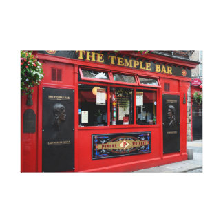 Red Temple Bar pub in Dublin canvas Canvas Print