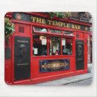 Red Temple Bar pub in Dublin mousepad