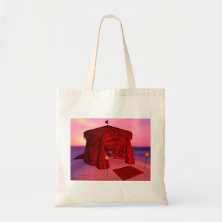 Red Temple Tent Budget Tote Bag