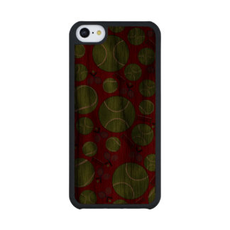 Red tennis balls rackets and nets walnut iPhone 5C case