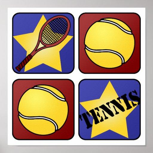 Red Tennis Print