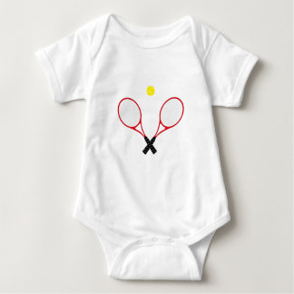 Red Tennis Rackets Baby Vest Baby Bodysuit