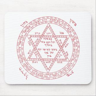 Red tetragrammaton mouse pad