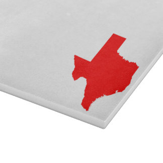 Red Texas Cutting Board