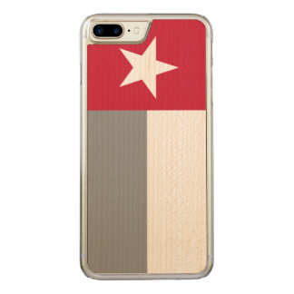 Red Texas Flag Carved iPhone 8 Plus/7 Plus Case