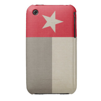 Red Texas Flag on Fabric iPhone 3 Case