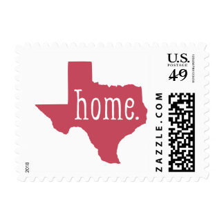 Red Texas State Home Postage Stamps