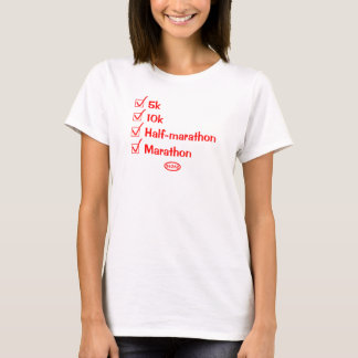 Red text: Checking them off (full marathon) T-Shirt