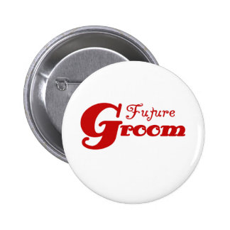 Red Text Future Groom Buttons