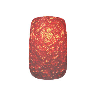 Red Textured Background Minx Nail Art