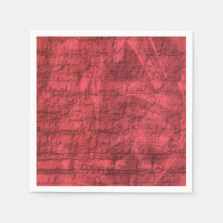 Red Textured Disposable Napkin