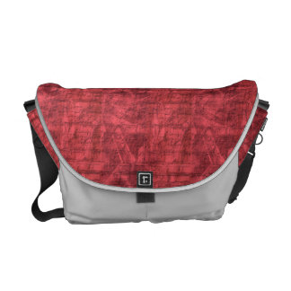 Red Textured Messenger Bags
