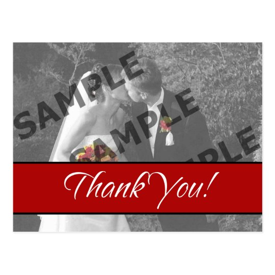 Red Thank You Postcard