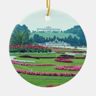 Red The Shonbrunn Castle, Vienna, Austria flowers Christmas Ornament