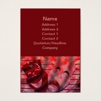 red theater masks business card