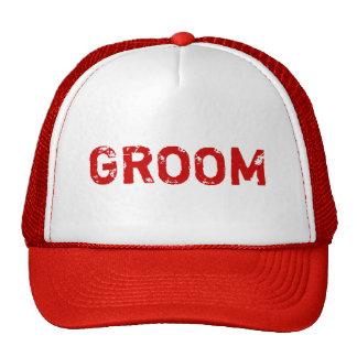Red theme simple Groom hat