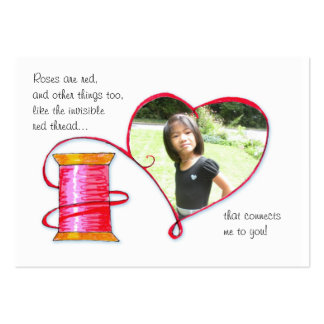 Red Thread Valentine or Lunch box love note Pack Of Chubby Business Cards