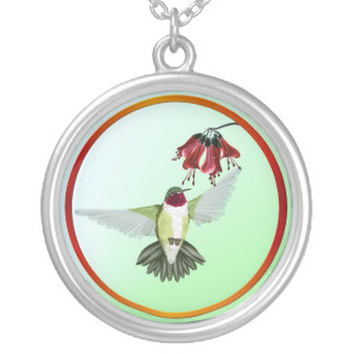 Red Throated Hummingbird- Necklace