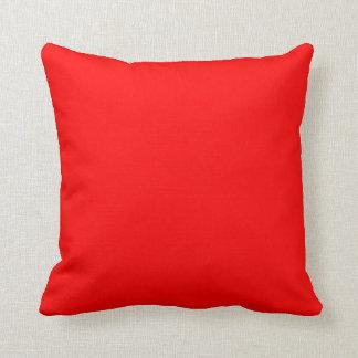 """Red Throw Pillow - """"Customizable"""""""