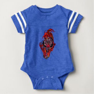 Red Tiger Baby Bodysuit