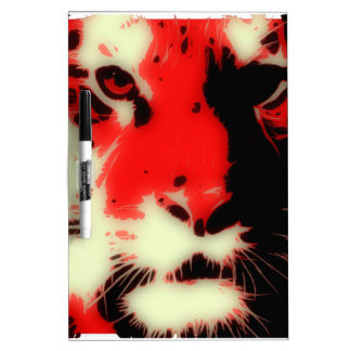 Red Tiger Face Dry Erase Board