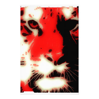 Red Tiger Face Personalised Stationery